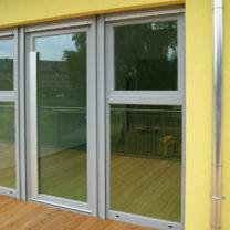 Detail Kunststofffenster - Kita Wünsdorf
